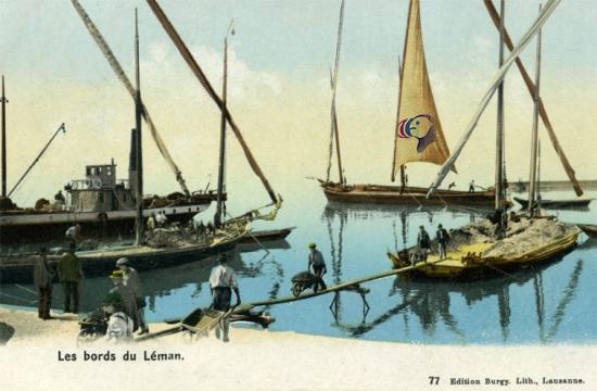 Macareux du Léman vers 1900
